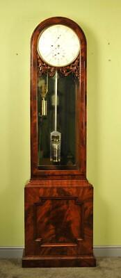 Mahogany English Regulator Longcase Tall Case Clock