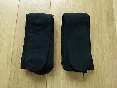 2 Pairs Marks & Spencer Black Thermal Fleece Lined Tights 200 Denier Uk Size L