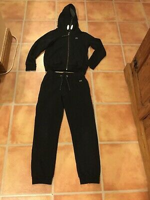 NEXT Girls Black Hoody And Joggers School Set Age 10