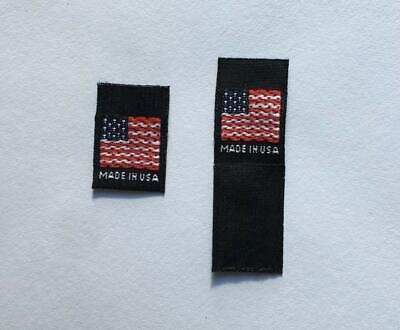 """500 pcs WOVEN GARMENT SEWING LABELS /""""MADE IN NEW YORK/"""" in Black Fast Shipping"""