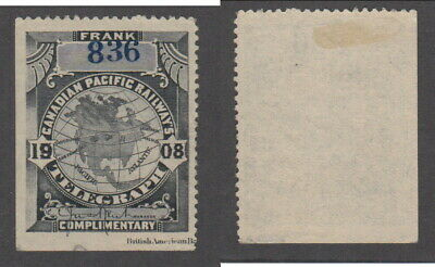 Mint Canadian Pacific Railways Telegraph Stamp #TCP21 (Lot #16134)