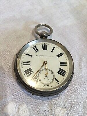 Antique Hallmarked Silver Large Heavy Pocket Watch Chester 1901