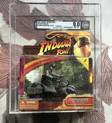 Indiana Jones German Soldier W/ Motorcycle AFA U 9.0 Graded 2008 Hasbro.