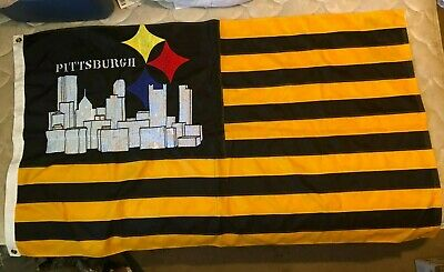 City of Pittsburgh Steelers Logo Flag 3x5 ft NFL Banner