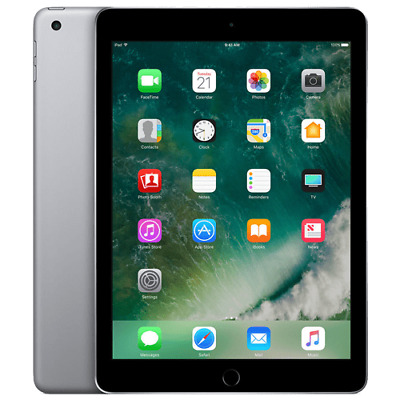 Apple iPad 5th Gen. 32GB, Wi-Fi, 9.7in - Silver A Grade + Free Gift (2017 Model)