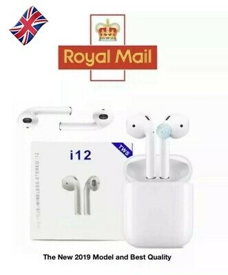 TWS i12 Earpods Earbuds Airpods Bluetooth Earphones with Wireless Charging Case