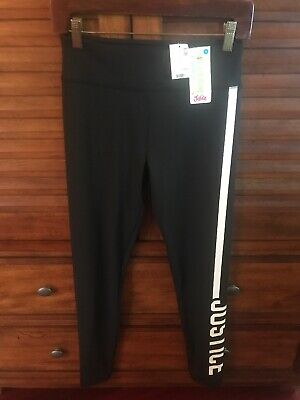 NWT Justice Girls High Waisted Black Leggings Size 18 Active Sport NEW