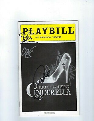 Cinderella Broadway Theatre Cast Signed Playbill-Mint Condition
