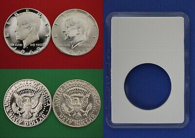 1986 S Proof John Kennedy Half Dollar With DIY Slab DCameo Combined Shipping