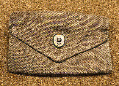 WWII WW2 US USMC Military Army First Aid Bandage Medical Medic Canvas Web Pouch