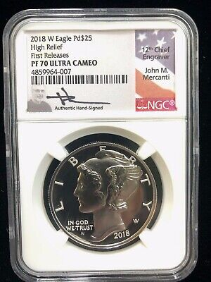 2018-W American Eagle 1oz Palladium Proof High Relief Coin NGC PF-70 Ultra Cameo