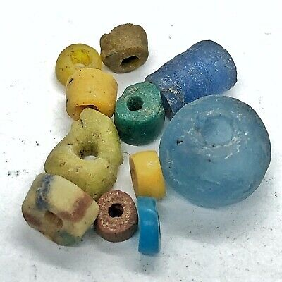 10 Authentic Ancient Glass Beads Artifacts Antiquities Old Bible Roman Byzantine