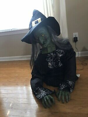 Gemmy Animated Life Size Ivana Get Up Witch