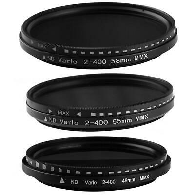 Fader Variable ND Filter Adjustable ND2 to ND400 Neutral Density for Canon K1B