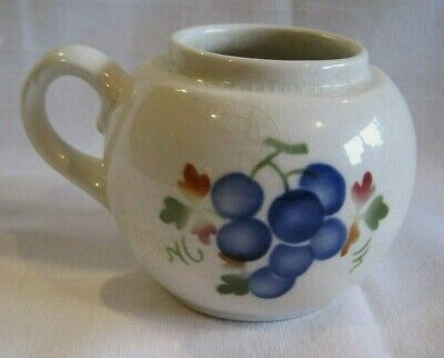 Vtg Royal Copenhagen Denmark Aluminia Faience Custard Cup Pot Dish Grapes 1765
