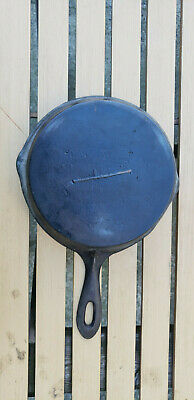 Antique Gate Mark Cast Iron Skillet 7 Fancy Ornate Handle Civil War HTF Rare Vtg