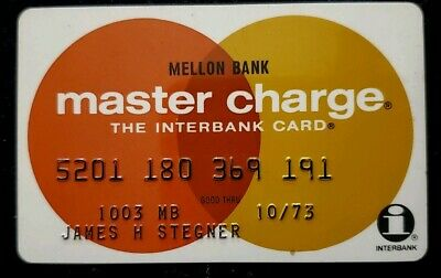1973 Melon Bank MasterCard  ♡Free Shipping♡cc166♡The Interbank Card