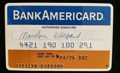 BankAmericard Indiana National Bank Credit Card exp1976 ♡Free Shipping♡ cc111