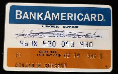BankAmericard First National Bank Chicago Credit Card exp 79♡Free Shipping♡cc118