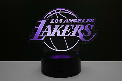 Los Angeles Lakers LA Night Light Lamp Collectible Gift Home Decor Kobe Bryant