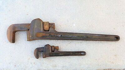 "Ridgid 18"" and 8"" Wrenches MADE IN ELYRIA OHIO USA, free shipping."