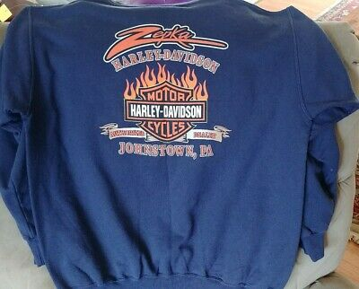 Harley Davidson Zepka Dealer Sweatshirt Size XL Johnstown PA.