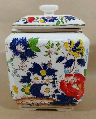 Antique hand-painted Japanese import porcelain cookie/ginger jar 1930's mAAP