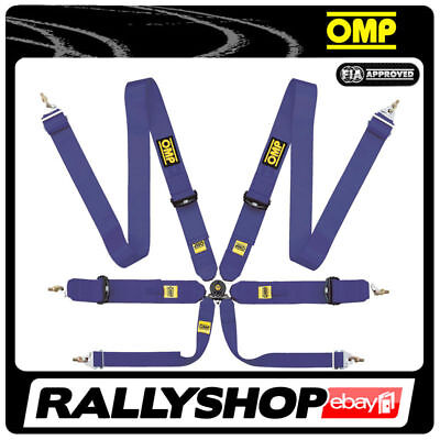"""OMP DA801 4 Point Saloon 3/"""" 76mm Harness FIA Approved Race Rally Black"""