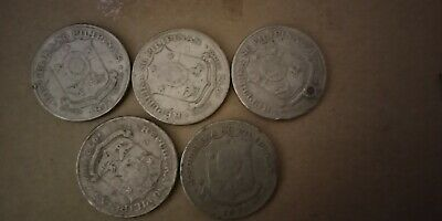 PHILIPPINE PISO COINS. 5x1 PISO COIN. 1972