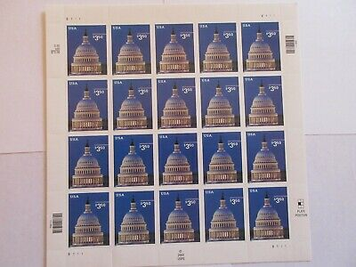 Us Scott 3472 $3.50 Priority Mail Capitol Dome Pane Of 20 Mnh