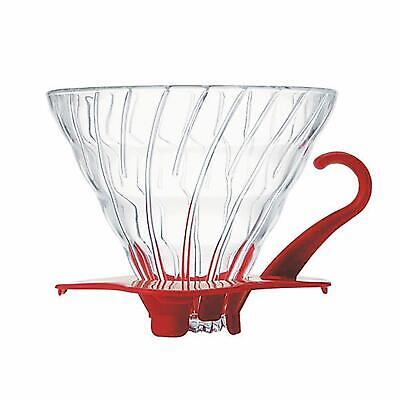 HARIO Hario V60 heat-resistant glass transparent coffee dripper 02 Red coffee dr