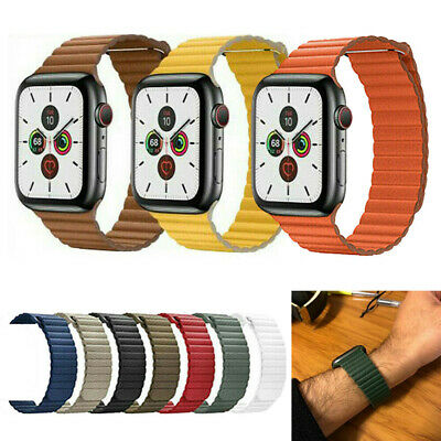 38/42mm 44mm Magnetic Leather Watch Band Loop Strap Apple Watch Series 5 4 3 2 1