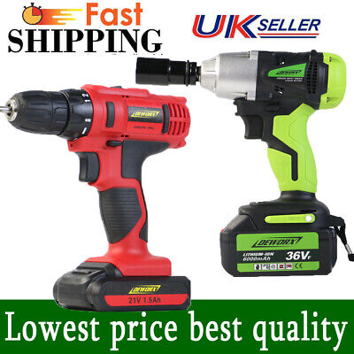 Cordless Impact Wrench Driver Cordless Power Drill Electric Screwdriver Case Set