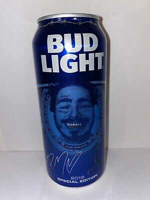 Special Edition Post Malone Bud Light 16 oz Can Hollywood's Bleeding Beerbongs