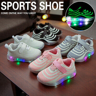 Children Kids Light Up Sneakers With LED Baby Boys Girls Luminous Shoes Trainers