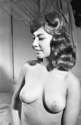 1960s Ron Vogel Negative, buxom nude brunette pin-up girl, cheesecake, t248192