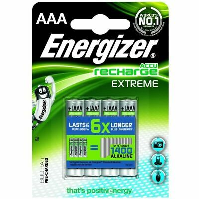 5 x lot 4 piles AAA Energizer rechargeable - accu recharge Extreme 800mAh NEUF