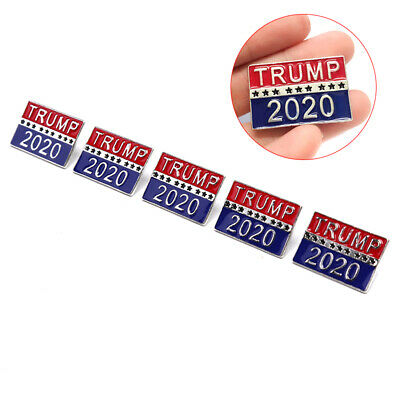 5pcs Donald Trump 2020 Election President Badge Button Pin Campaign Brooch NewZY
