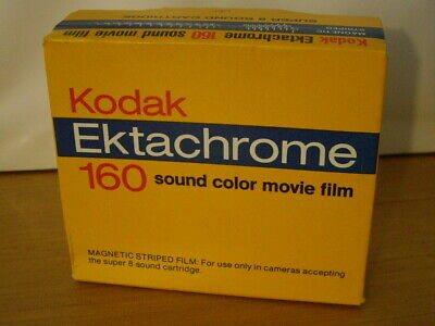 Vintage Kodak Ektachrome 160 Sound Color Movie Film Unopened