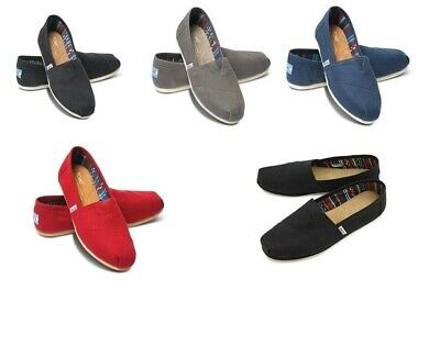 TOMS Mens Canvas Shoes Trainers Orginal Classic Slip On Casual Pumps Loafers