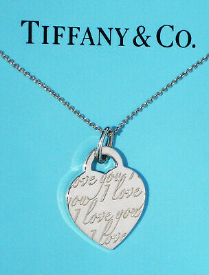 Tiffany & Co Sterling Silver Infinity Double Chain Pendant Necklace (New Style)