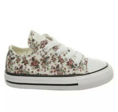 BRS* CONVERSE ALLSTAR Low Infant DITSY FLORAL Trainers Uk 6