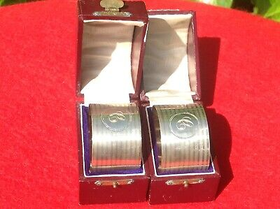 antique solid silver napkin rings