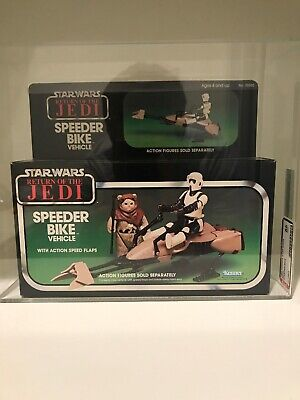 Vintage KENNER Return of the Jedi ROTJ Speeder Bike AFA 85 MN+