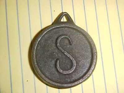"""Very Early Antique Sessions Clock Pendulum With The """"S""""  (In Script) $5.99  N/R!"""