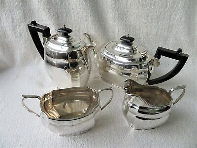 HEAVY 4 PIECE SILVER TEA SET S.BLANCKENSEE & SONS CHESTER 1937/38 1620gs