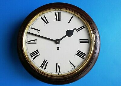 #039 Antique Oak Cased Tameside Wire Fusee Dial Clock