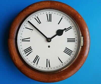 #040 Antique Oak Cased Tameside  Dial Clock With An 8-Day Springwound Movemen
