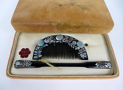 Kanzashi Comb um 1900 Japan Mother of Pearl