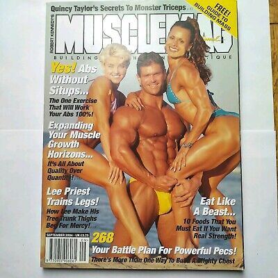 Musclemag Bodybuilding Magazine Sept 2004 Mike Platz on cover